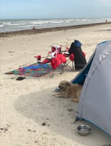 camping on Mustang Island