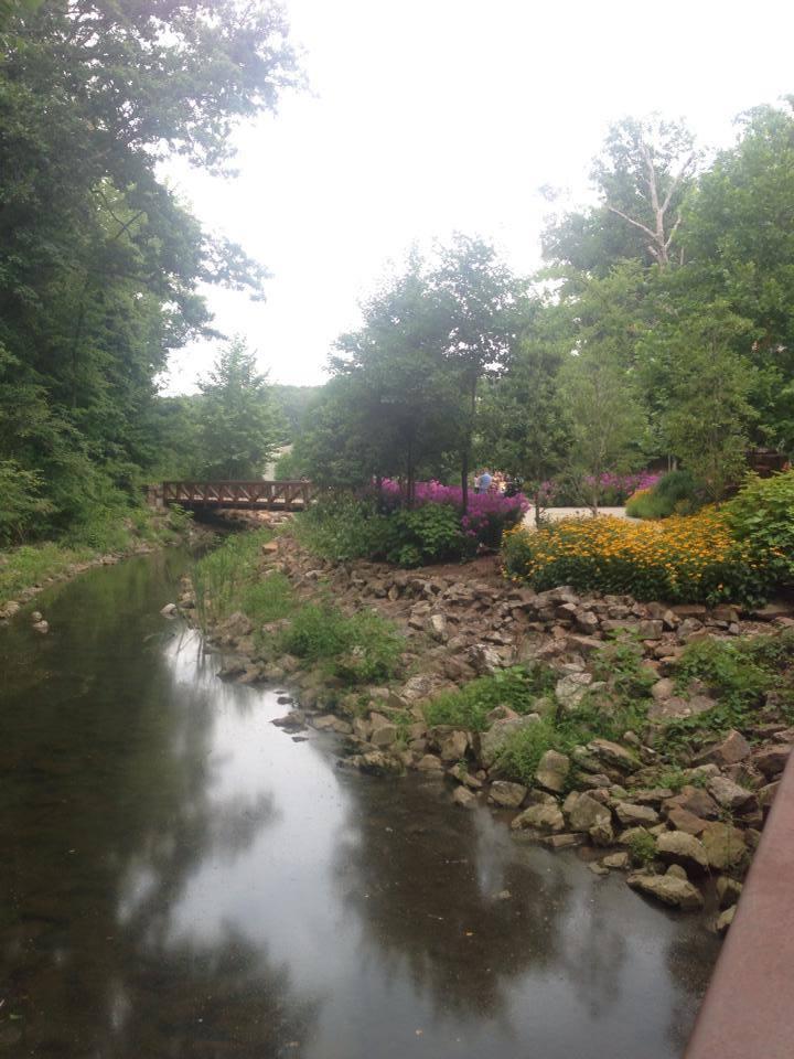 Walking trail at Crystal Bridges