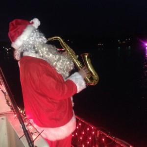 Santa on sax.