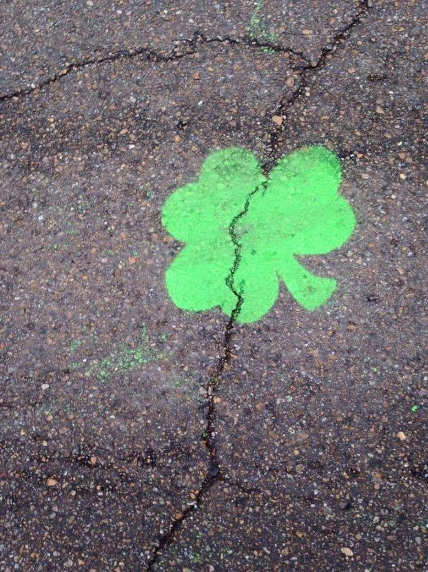 green chalked shamrock