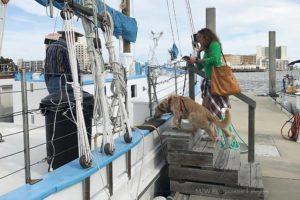 Boarding a schooner