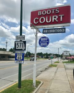 Boots Court motel sign